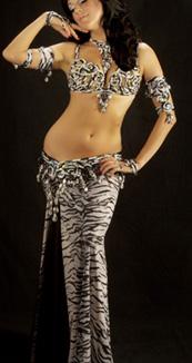 Sandra Bellydance Costumes Sale Animal Print Lycra Belly Dance